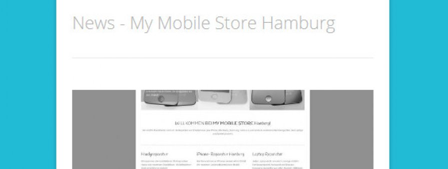 News in Tablet-Ansicht - My Mobile Store Hamburg